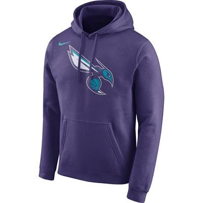 """Charlotte Hornets Jordan Logo Fleece Hoodie – New Orchid – Mens"""