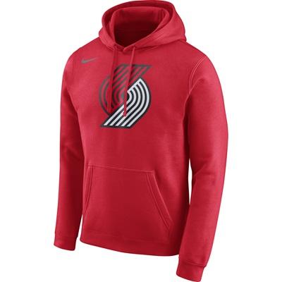 """Portland Trail Blazers Nike Logo Fleece Hoodie – University Red – Mens"""