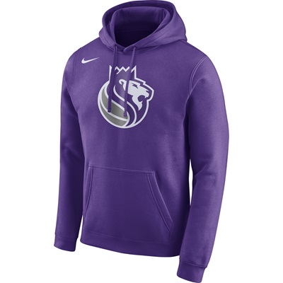 """Sacramento Kings Nike Logo Fleece Hoodie – Field Purple – Mens"""