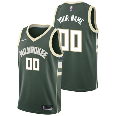 """Milwaukee Bucks Nike Icon Swingman Jersey – Custom – Mens"""