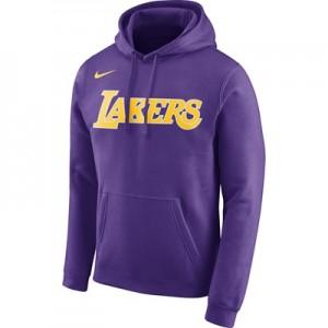 """""""Los Angeles Lakers Nike Wordmark Fleece Hoodie – Field Purple – Mens"""""""