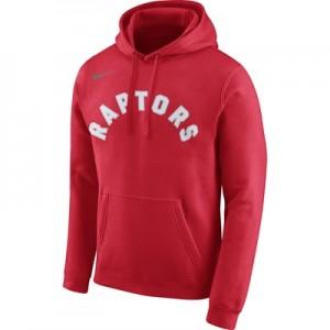 """""""Toronto Raptors Nike Wordmark Fleece Hoodie – University Red – Mens"""""""