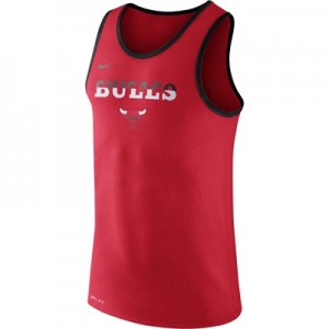"""Chicago Bulls Nike Logo Tank Top – University Red – Mens"""