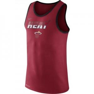"""Miami Heat Nike Logo Tank Top – Tough Red – Mens"""