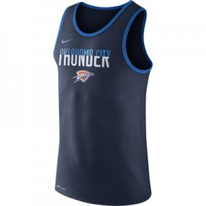 """Oklahoma City Thunder Nike Logo Tank Top – College Navy – Mens"""