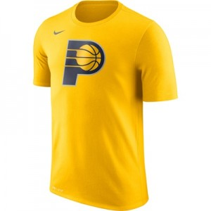 """Indiana Pacers Nike Logo T-Shirt – Amarillo – Mens"""