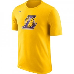 """Los Angeles Lakers Nike Logo T-Shirt – Amarillo – Mens"""