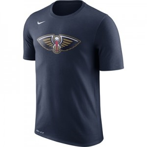 """""""New Orleans Pelicans Nike Logo T-Shirt – College Navy – Mens"""""""