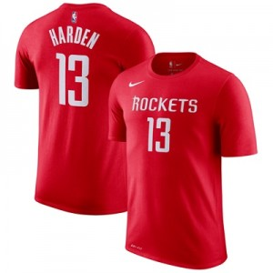 """Houston Rockets Nike James Harden Name & Number T-Shirt – University R"""