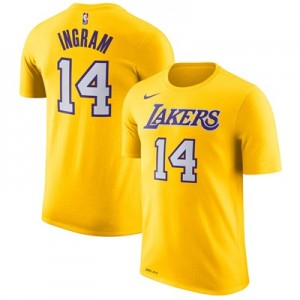 """Los Angeles Lakers Nike Brandon Ingram Name & Number T-Shirt – Amarill"""