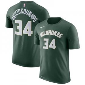"""Milwaukee Bucks Nike Giannis Antetokounmpo Name & Number T-Shirt – Fir"""
