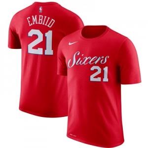 """Philadelphia 76ers Nike Joel Embiid Name & Number T-Shirt – University"""