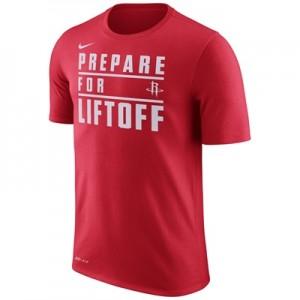 """Houston Rockets Nike Verbiage T-Shirt – University Red – Mens"""