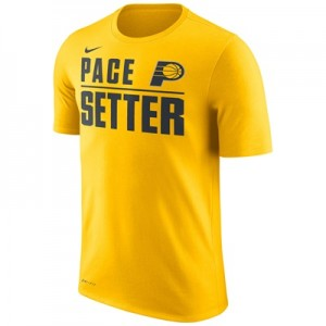 """Indiana Pacers Nike Verbiage T-Shirt – Amarillo – Mens"""