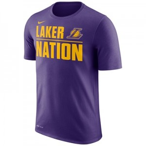 """Los Angeles Lakers Nike Verbiage T-Shirt – Court Purple – Mens"""