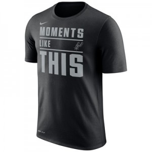 """San Antonio Spurs Nike Verbiage T-Shirt – Black – Mens"""