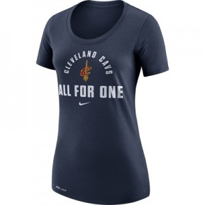 """""""Cleveland Cavaliers Nike Verbiage T-Shirt – College Navy – Womens"""""""