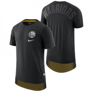 """Golden State Warriors Nike Mesh Drop Hem T-Shirt – Black – Mens"""