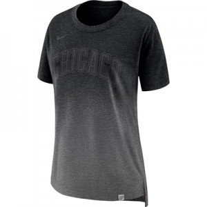"""Chicago Bulls Nike Hi-Lo T-Shirt – Charcoal Heather – Womens"""