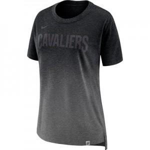 """Cleveland Cavaliers Nike Hi-Lo T-Shirt – Charcoal Heather – Womens"""