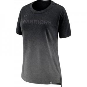 """Golden State Warriors Nike Hi-Lo T-Shirt – Charcoal Heather – Womens"""
