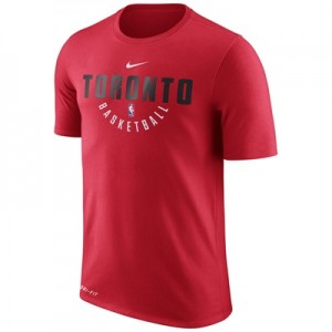 """Toronto Raptors Nike Practise Short Sleeve T-Shirt – University Red – """