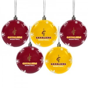 """Cleveland Cavaliers 5 Pack Shatterproof Baubles"""
