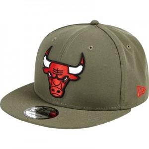 """Chicago Bulls New Era Khaki Stone Team Logo  9FIFTY Snapback Cap"""