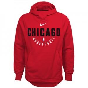 """Chicago Bulls Nike Elite Practise Fleece Hoodie – University Red – You"""