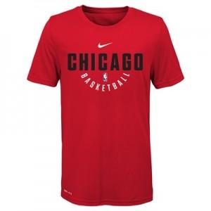 """""""Chicago Bulls Nike Elite Practise Short Sleeve Top – University Red – """""""