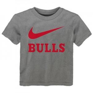 """Chicago Bulls Nike Swoosh T-Shirt – Dark Grey Heather – Toddler"""