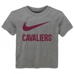 """Cleveland Cavaliers Nike Swoosh T-Shirt – Dark Grey Heather – Kids"""