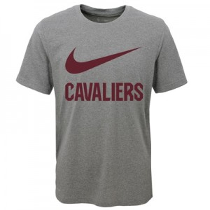 """Cleveland Cavaliers Nike Swoosh T-Shirt – Dark Grey Heather – Youth"""