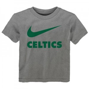 """Boston Celtics Nike Swoosh T-Shirt – Dark Grey Heather – Kids"""