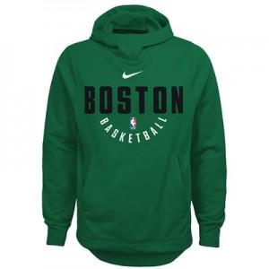 """Boston Celtics Nike Elite Practise Fleece Hoodie – Clover – Youth"""