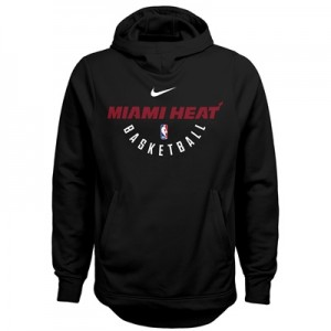 """Miami Heat Nike Elite Practise Fleece Hoodie – Black – Youth"""