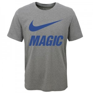 """Orlando Magic Nike Swoosh T-Shirt – Dark Grey Heather – Youth"""