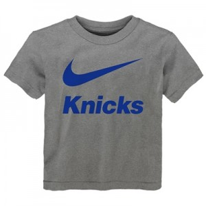 """New York Knicks Nike Swoosh T-Shirt – Dark Grey Heather – Kids"""