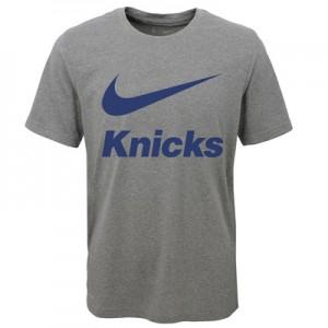 """New York Knicks Nike Swoosh T-Shirt – Dark Grey Heather – Youth"""