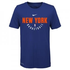 """New York Knicks Nike Elite Practise Short Sleeve Top – Rush Blue – You"""