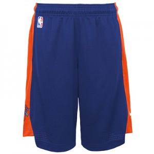 """New York Knicks Nike Practise Short – Rush Blue/Brilliant Orange – You"""