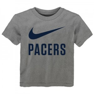 """Indiana Pacers Nike Swoosh T-Shirt – Dark Grey Heather – Kids"""