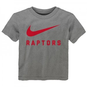 """Toronto Raptors Nike Swoosh T-Shirt – Dark Grey Heather – Kids"""
