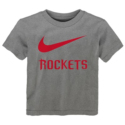 """Houston Rockets Nike Swoosh T-Shirt – Dark Grey Heather – Kids"""