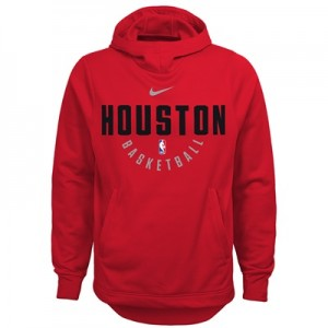 """Houston Rockets Nike Elite Practise Fleece Hoodie – University Red – Y"""