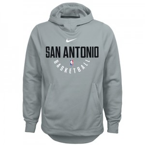 """San Antonio Spurs Nike Elite Practise Fleece Hoodie – Flat Silver – Yo"""