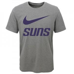 """Phoenix Suns Nike Swoosh T-Shirt – Dark Grey Heather – Youth"""