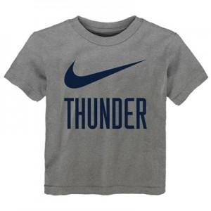 """Oklahoma City Thunder Nike Swoosh T-Shirt – Dark Grey Heather – Kids"""