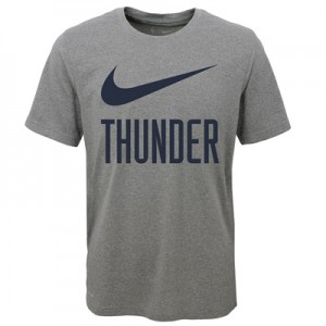 """Oklahoma City Thunder Nike Swoosh T-Shirt – Dark Grey Heather – Youth"""