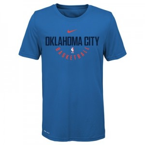 """Oklahoma City Thunder Nike Elite Practise Short Sleeve Top – Signal Bl"""